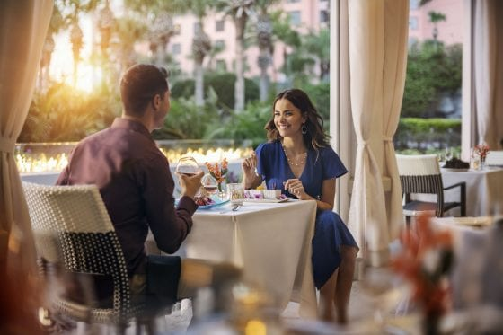 Couple at The Venetian Chop House at Caribe Royale Orlando