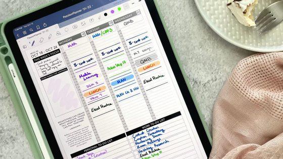 Passion Planner digital planner view